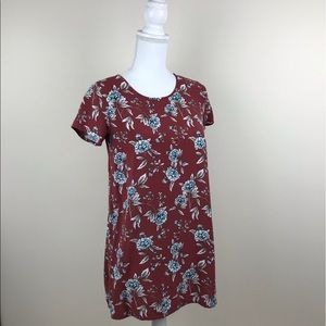 Forever 21 Floral Red Tunic Small